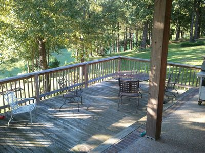 Back deck overlooking the golf course