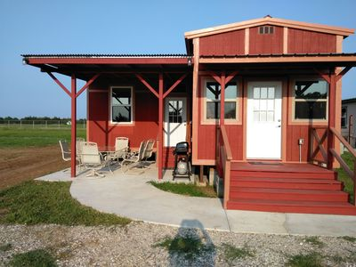 Photo for STAY 3 NIGHTS GET 4TH FREE!!  Rustic Red Cabin,  Lake Texoma!