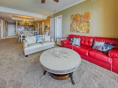 Photo for Beautiful waterfront condo w/ sweeping views, shared hot tub, pool, & gym
