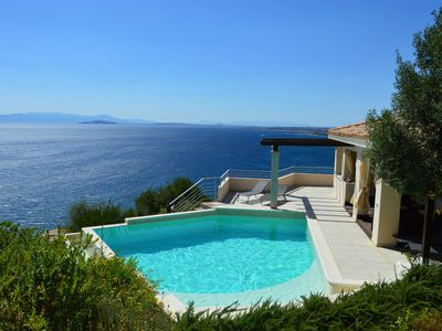 Photo for Uninterrupted sea views, idyllic location, private salt water pool, full privacy