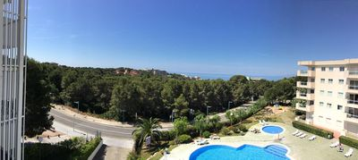 Photo for APPT IDEAL FOR FAMILY - 3 BEDROOMS - SEA VIEW AND SWIMMING POOL - NEAR BEACH