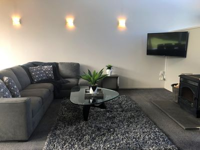 Two identical living areas - each with a fireplace