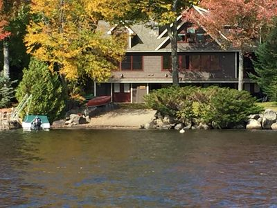 Photo for Spectacular Lakefront Home in Brant Lake for multi-family vacations. Sleeps 17