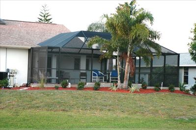 View of Cage/Pool from Golf Course