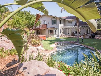 Photo for Gorgeous 6 bedroom, 4 bath with pool, hot tub & beautiful outdoor space!