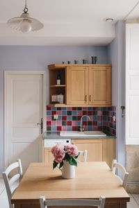 Our bright, charming, and functional kitchen.