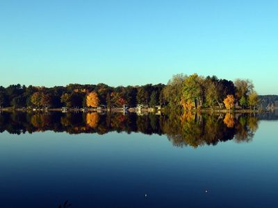 Photo for Beautiful Lodge on Crystal Clear Full Rec Lake 4 hours from Chicago - Sleeps 21
