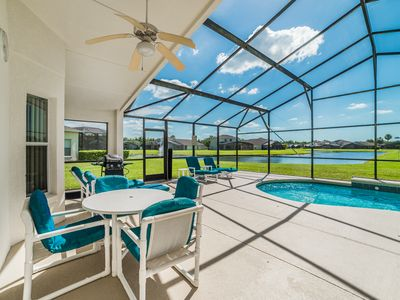 Photo for Beautiful Pool Villa, Lake View, In Gated Community 15 Minutes From Disney
