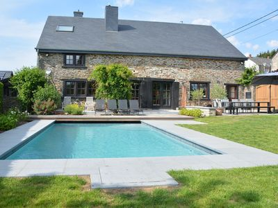 Photo for Very nice elegant house with swimming pool, sauna in the heart of the Ardennes