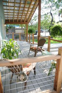 Enjoy a cold drink on the wrap around porch