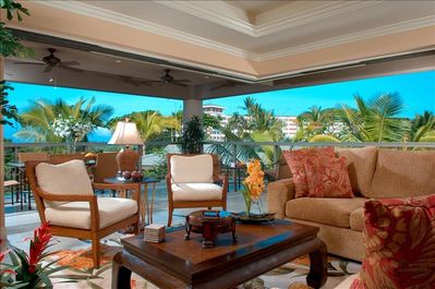 Living Room with Open Lanai
