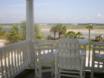 Photo for Beautiful home on the West end of OIB.  Beach AND sound front!