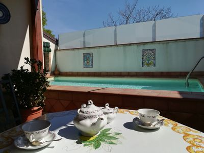 Photo for very elegant Sicilian style villa with pool for 2 to 10 people.