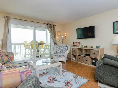 Photo for Beautiful 2 bedroom Oceanfront condo with elevator access in Ocean Dunes