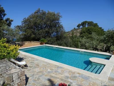 Photo for Cozy stone house with pool in idyllic surroundings