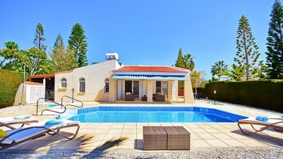 Photo for Private Pool, wi fi, UK TV, Barbecue, Privacy, and Car Not Required.