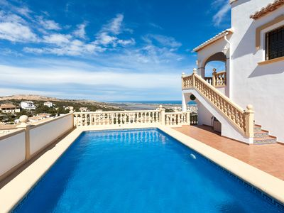 Photo for This 3-bedroom villa for up to 6 guests is located in Pego and has a private swimming pool and Wi-Fi