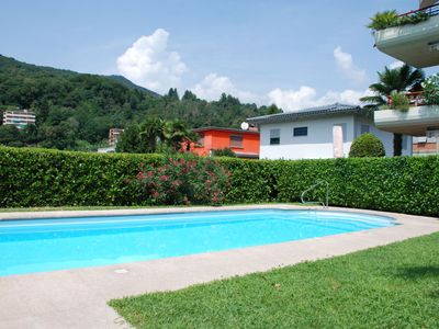 Photo for One bedroom Apartment, sleeps 4 in Caslano with Pool