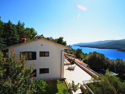 Photo for Three bedroom apartment with balcony and sea view Rabac, Labin (A-9707-a)