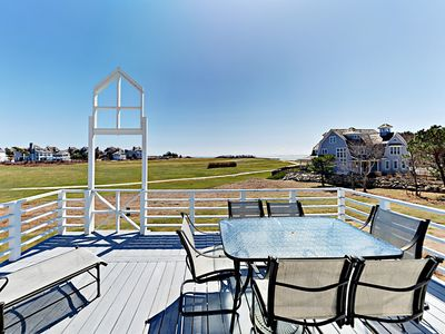 Deck - Enjoy dinner al fresco with golf course views on the main deck.