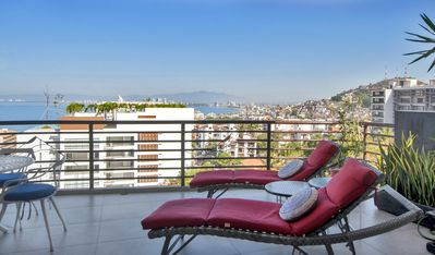 Beautiful views from your expansive corner-private terrace.