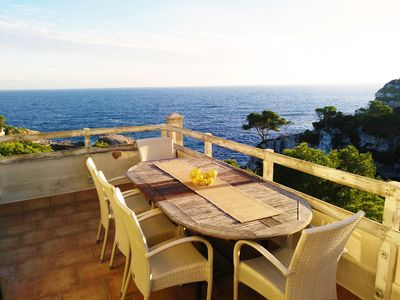 Photo for Holiday by the sea, Cala S'Almunia / des Moro, air conditioning, close to the beach, 6 pers.
