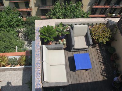 Photo for Sun terrace overlooking the rooftops of Barcelona