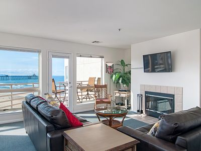 Photo for Overlook the ocean and pier in this 2 Bedroom/2 Bath