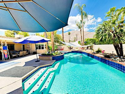 Photo for 2BR/2BA Large Patio/ Pool and Jacuzzi in Palm Springs & Mountain Views