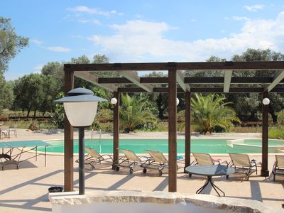 Photo for Trullo Nespole with large 12m private pool, 30 mins to airport, family friendly