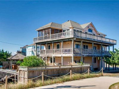 Photo for Delight in Semi-Oceanfront Direct Beach Access w/Solar Htd Pool, Hot Tub, GameRm