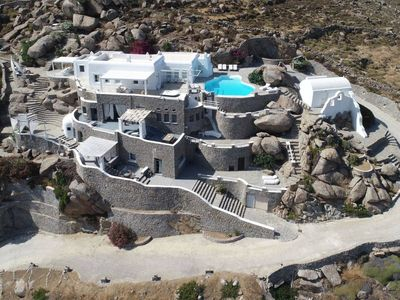 Photo for Amazing 4-bedroom Villa on Mykonos with private pool and awe-inspiring sea views