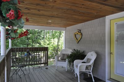 large porch to relax and reflect on your day