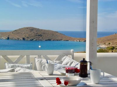 Photo for Delfini Beach, Syros - Paradise Location - Beautiful Villa - Best Beach