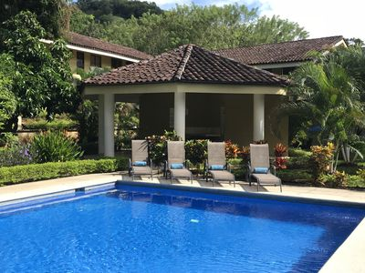 Brilliant blue pools, comfortable loungers and the outdoor Rancho