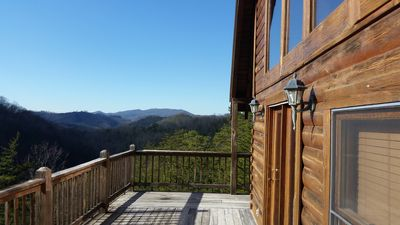 Photo for OH THE VIEW BONNIE BLUE! Tremendous Views Smoky Mountains Minutes Pigeon Forge