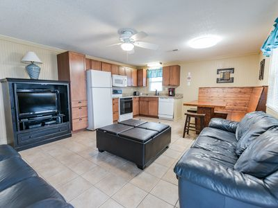 Photo for Short walk to Beach- 2 Bedroom / 1 Bath Quad 4 Cottage (up)w/pool access