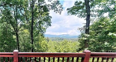 Photo for Bearly Connected is an adorable little cabin in the woods with breathtaking views.  Pet-friendly.