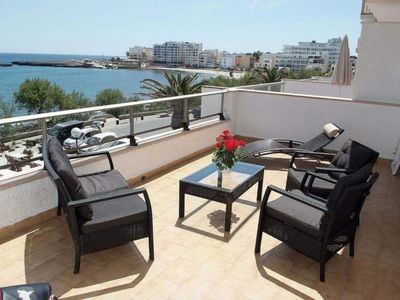 Photo for Apartment with terrace by the beach with sea viewh - Antic 302