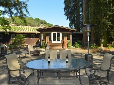 Photo for Vineyard house on a 26 acre creekside property Wonderful for all ages