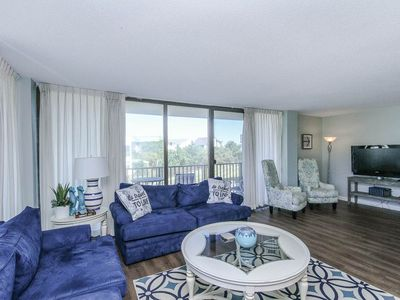 Photo for A110: 1st floor 3BR Sea Colony oceanside condo | Private beach, pools & tennis!