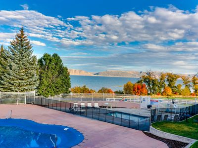 Photo for NEW LISTING! Updated condo overlooking Bear Lake with shared pool and hot tub!