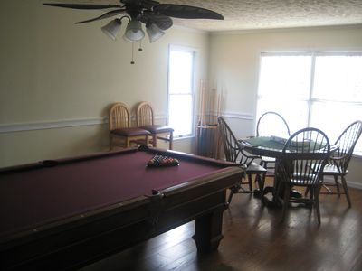 The upstairs game room
