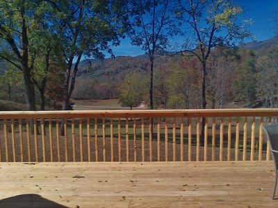 View from upstairs deck.