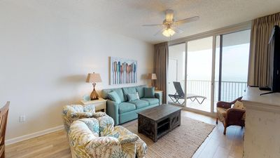 Photo for Tropical 2-Bedroom Condo-Master Bedroom With Balcony-Gulf Front View!