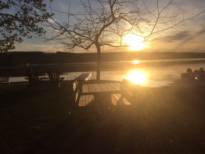 Photo for Lamoka lake cottage ON LEVEL LAKE FRONT PROPERTY. THERE'S A SEVEN DAY DISCOUNT.