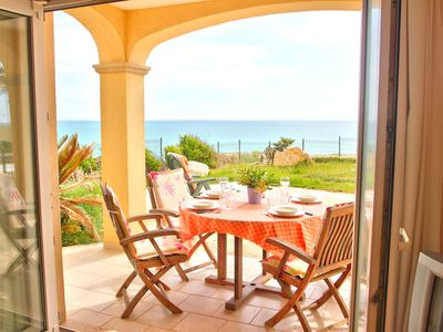 Photo for Beautiful apartment in 1st sea line directly on the sandy beach of Es Trenc