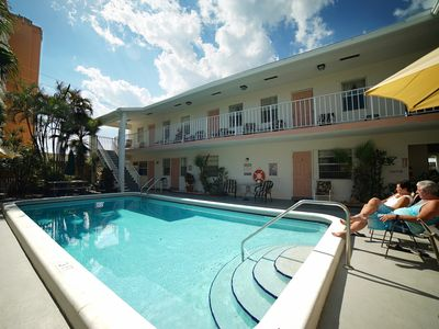 Photo for ★ Spacious Costal Studio  ★ 200 FT from the beach w/ pool, parking, & Kitchen