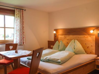 """Photo for Double room """"natural wood"""" with shower, WC - Zittrauerhof, comfort apartments"""