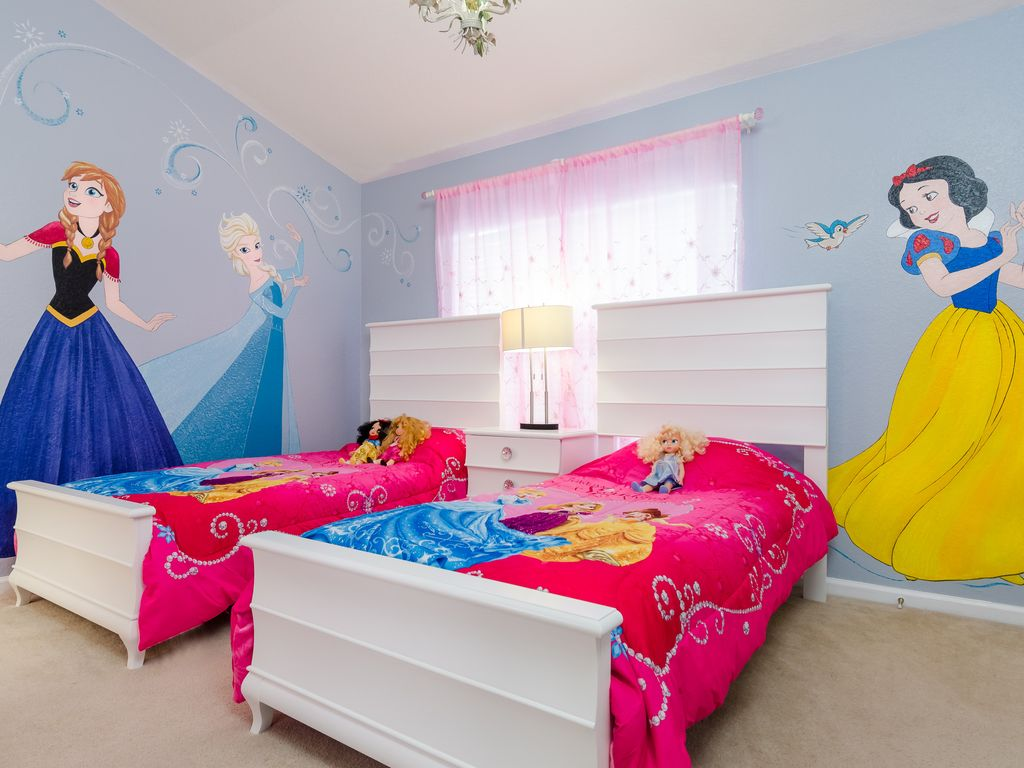 Princess Themed Bedroom Perfect Townhome With Magical Princess Homeaway Kissimmee